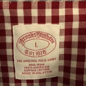 Brooks Brothers Shirts - Brooks Brothers Logo Multicolored Check Plaid MENS